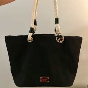 Michael Kors Large black Marina canvas tote
